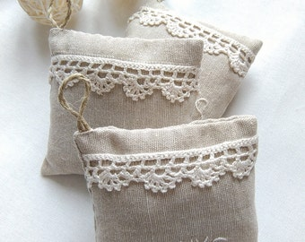 Rustic wedding favors, party favors,personalized favors, lavender favors, lavender fragrance, crochet favors