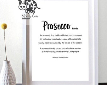 Prosecco Quote| Prosecco Print| Prosecco Sign| Prosecco Gifts | Mothers Day Gifts | Kitchen Art| Kitchen Wall Decor | Mothers Day