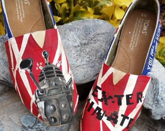 Custom Painted Doctor Who Daleks TOMS Shoes *free shipping in the US*