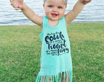 Fringe Dress - Toddler Girl - Baby Girl - Gypsy Soul - Faries - Hipster Dress - Boho Babe - Summer Dresses - Beach Cover - Trendy