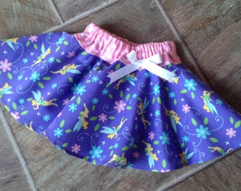 Tinkerbell, Girls Tinkerbell Skirt, Tinkerbell Ruffled Skirt, Toddler Baby Girl, Disney, Sizes 2T 3T 4T 5T 6, Size 2T IMMEDIATELY AVAILABLE