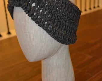 Classic Knotted Crochet Grey Headband