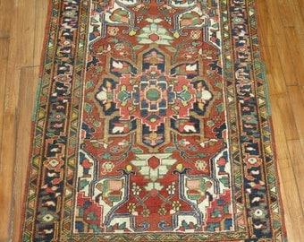 Antique Persian Heriz Rug Size 3'5''x4'6''