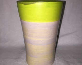 Porcelain Tumbler with Oyster Shell & Apple Green Glaze