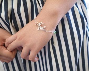 Name Bracelet - Personalized Name Bracelet - Dainty Name Bracelet - Personalized Jewelry - Bridesmaid Gifts