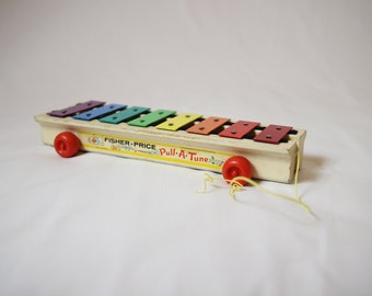 Fisher price Xylophone, musical instrument, fisher price toys 1964