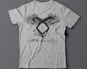 All the Stories are True - Shadowhunters inspired / Angelic rune tee for men or women