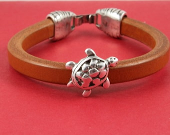 R/7 MADE in EUROPE zamak turtle slider, licorice slider, zamak turtle slider for licorice leather cord (7815-0077) qty1