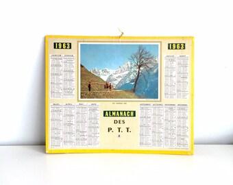 1963 Vintage Calendar from France