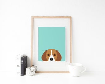 Beagle Print, Dog Print, Puppy Print, Dog Poster, Home Decor, Wall Art,Nursery, Nursery Decor, Kids Wall Art, Printable, Decor Animals