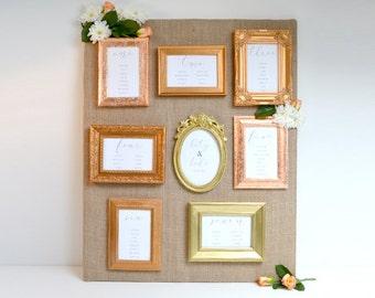 Mini Frame Wedding Table Plan