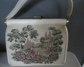 VINTAGE Tapestry/Needlepoint Handbag by JR Florida - Clutch