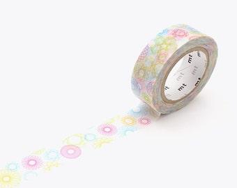 MT Washi Tape Spirograph, MT Tape, Japanese Washi Tape, MT Washi Tape, Deco Tape, mt Masking Tape, Washi Tape 15mm, Pastel Washi Tape