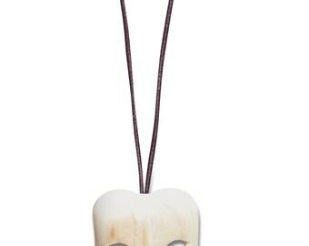 wood prom mask pendant