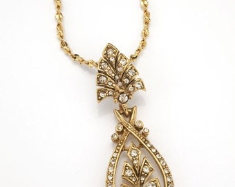 14K Antique Gold Art Nouveau Pendant