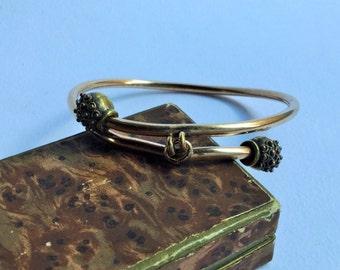 Victorian rolled gold bracelet, bangle Bracelet victorian jewels, antique Victorian jewellery, gold plated-Victorian antique bracelets