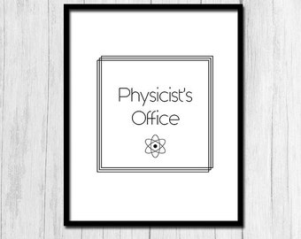 Physics Gift Physics Office Decor Instant Download Science Wall Decor Gift for Physicist Gift Wall Decor Printables Digital Download
