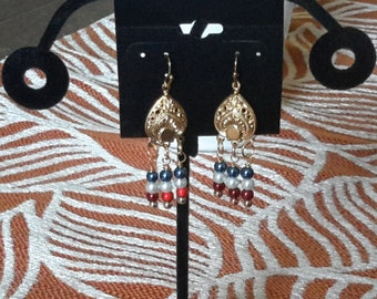 Red, White, & Blue earrings