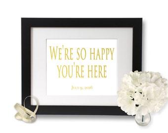 Wedding Reception sign, Wedding Thank You, Wedding Signs, wedding welcome sign, personalized wedding