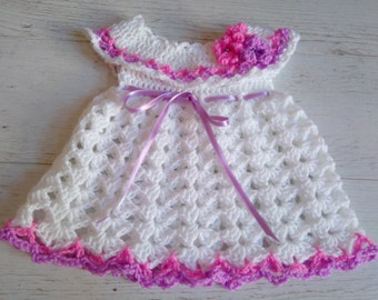 Crochet Pattern Dress Pattern baby dress crochet Pattern Crochet baby dress White baby dress Infant crochet dress holiday  Digital Download