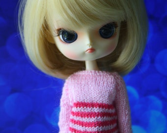 Sweater darkbabypink Dal Obitsu 23 21 sweet button
