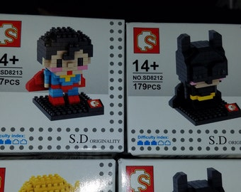 Justice League Nanoblocks Microblocks Construction Sets Superman Batman Wonder Woman Flash Arrow Cyborg Aquaman Green Lantern