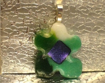 Wintergreen Autism Puzzle Piece by Feralartist  - See all the New Colors today! Autism Awareness Jewelry