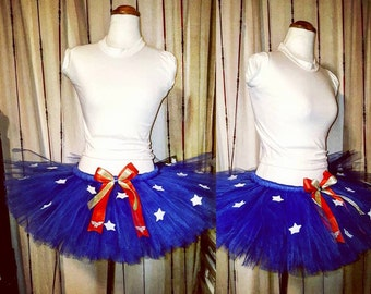 W o n d e r W o m a n inspired tutu skirt (only) || wonder woman || any size available || perfect for parties || birthdays || photo shoots