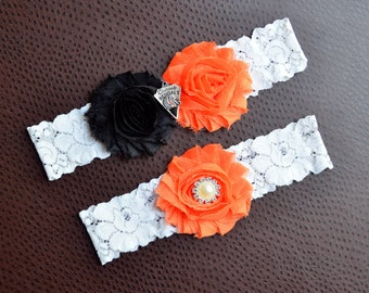 Bengals Garter Set | Cincinnati Bengals Wedding Garters | Bridal Garter and Toss Garter