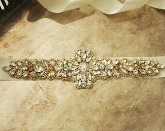 Wedding dress belt - vintage bridal belts - bridal sashes - vintage bridal belts - wedding dress sash -bridal sash -vintage belts and sashes