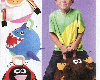 FREE US SHIP McCall's 6720 Kids Monster Plush Hopping Ball Cover Uncut Sewing Handmade Craft Pattern