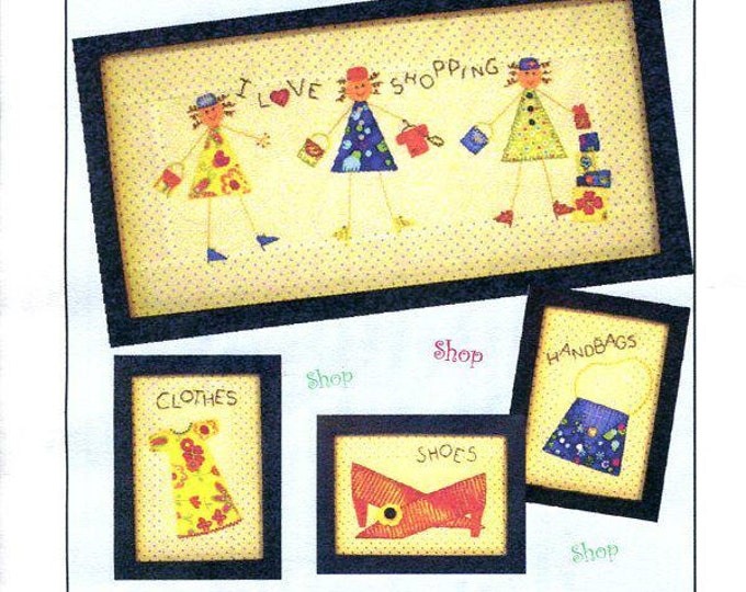 Free Usa Shipping Craft Pattern Little Brown House SHOP SHOP SHOP Stick Figure Embroidery Quilt Picture Magnets Cards  New Condition