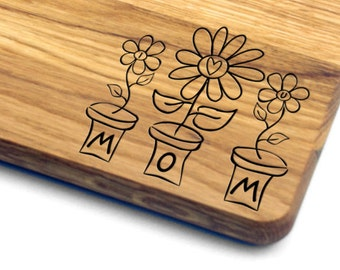 Mother's Day Gift Personalized Cutting Board. Gift for Mom, Gift for Her, Gift for Wife, Personalized, Engraved, Mothers Day