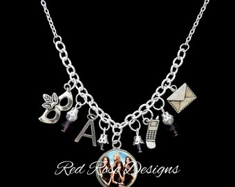 Pretty Little Liars Themed Statement Charm Necklace