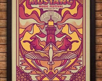 Mustang Festival 2015 Screen Print