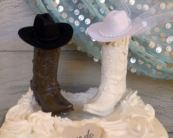 boot wedding cake topper boots cake topper etsy 12096