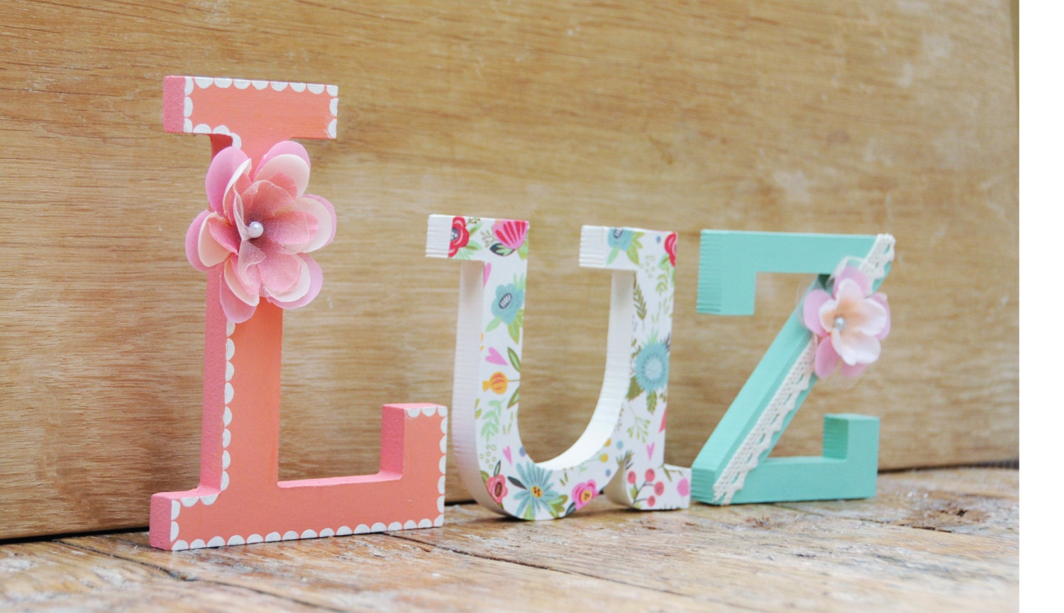 Wooden Letter Name Hand Painted Amp Decorated Wooden Letters