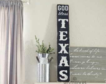 God Bless Texas - Wooden Sign