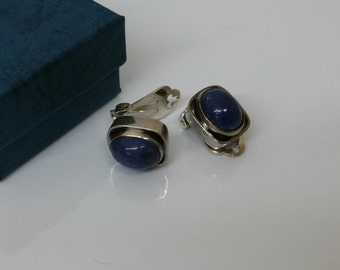 Art Deco earrings with lapis lazuli 925 Silver SO111