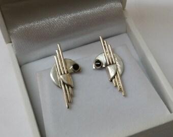Earrings 925 Silver Onyx design SO159