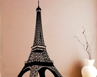 Eiffel Tower Wall Sticker Paris Tower Vinyl Decal Paris Stickers Wall Vinyl Decor /4hmy/