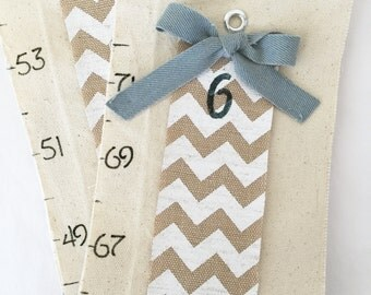 Cutest Canvas Growth Chart - Tags Included-Canvas - children's wall art - modern height chart- fabric