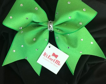 Green Swarovski Hair Bow