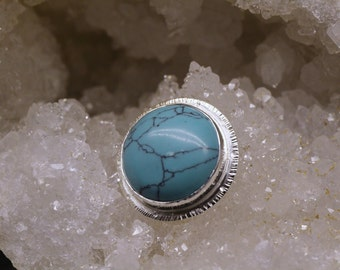Sterling Silver Turqoise Howlite pendant, hand made