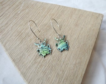 Small Beetle Earrings