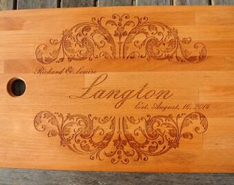 Chopping  Board, Custom Cutting Board, Engraved Cutting Board, Monogrammed Cutting Board, Custom Wedding Gift