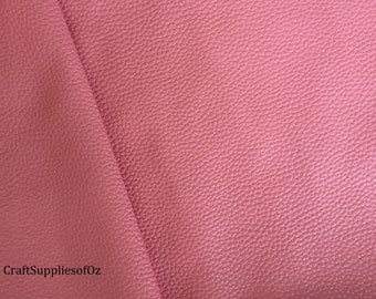 Bubblegum Pink Faux Leather Bubblegum Pink Leatherette Texured Soft Leatherette Supply in Australia