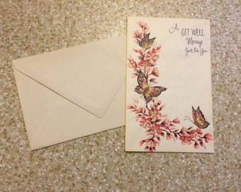 Beautiful 1910s Vintage Greeting Card - Get Well Soon - Full Color - Unused - Excellent Condition - Collectible - Art Deco