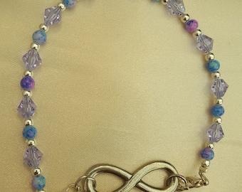 Lavender and blue bracelet