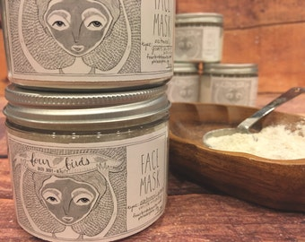 All Natural Oatmeal, Goats Milk and Honey Face Mask { Dry Skin Mask - Aging Skin Mask - Pore Shrinking Mask - Clay Mask }